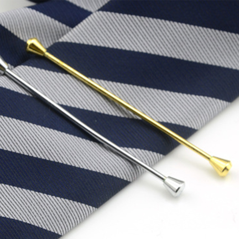 Fashion Skinny Tie Collar Pin For Men Shirt Collar Stays Wedding Copper Silver/Gold Slim Tie Pins Collar Tie Bar Accessories