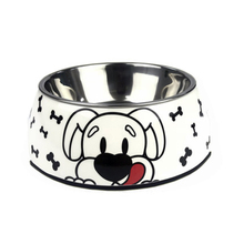 Free Shipping Food Bowls Pet Stomach Feeding Cute Dog Bowl Stainless Metal Drinking Bottle Container  50GP009