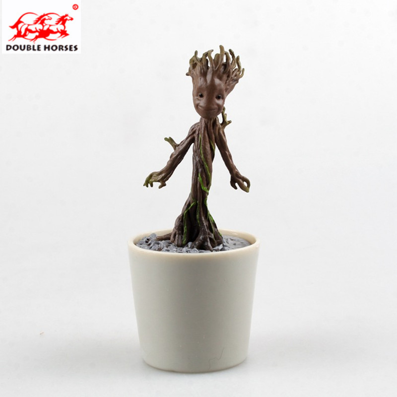 12CM Guardians Galaxy Sitting Tree Man Groot Action Bonsai decoration Model Toy Desk Dec ...