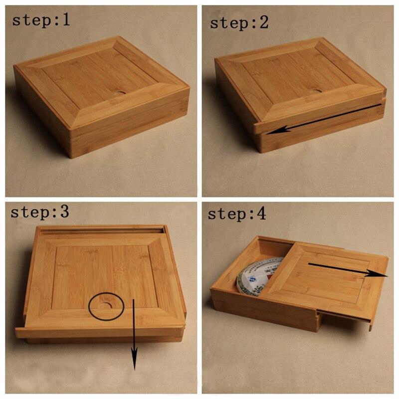 Premium Bamboo Pu-Erh Storage Gift Box Handmade 2