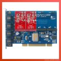 Tdm400p 4 разъём(ов) с 2FXO модули звездочка карты для VoIP IP атс