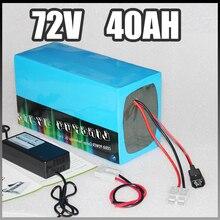 72 V 40Ah Электрический аккумулятор для велосипеда 72 v 3000 W samsung электрический скутер литиевый аккумулятор с системой управления зарядным устройством