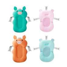 NewBorn Bear Shape Safety Security Bath Seat Support Portable Air Cushion Bed Babies Infant Baby Pad Non-Slip Bathtub Mat