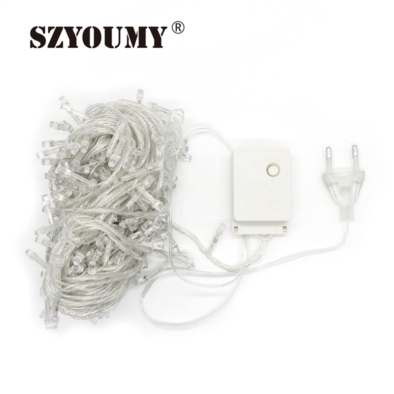 Lighting Strings Self-Conscious Szyoumy 10 Pcs 20m Ac110/220v Led String Light 200 Leds Wedding Party Xmas Christmas Tree Decoration Fairy Lights 9 Colors Fine Quality Outdoor Lighting