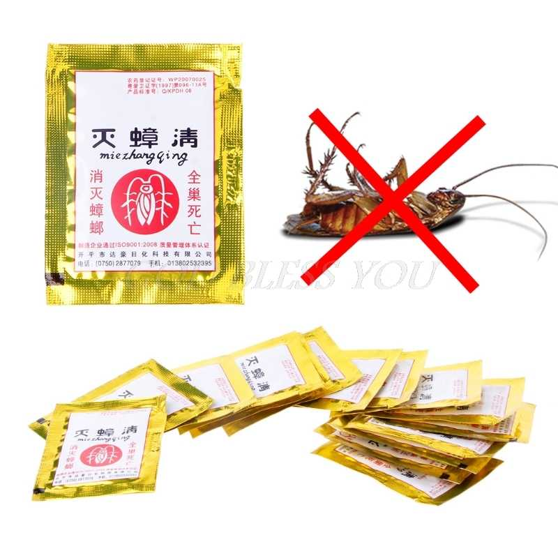 15PCS Cockroach Repellent Trap Poison Pest Portfolio Indoor Family Bug Control