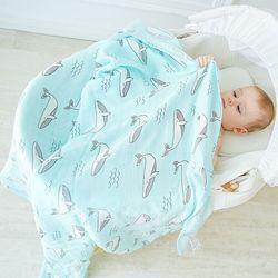 모슬린 나무 신생아 모슬린 swaddle 아기 다용도 대나무면 담요 유아 신생아 아기 포장 120x120 cm
