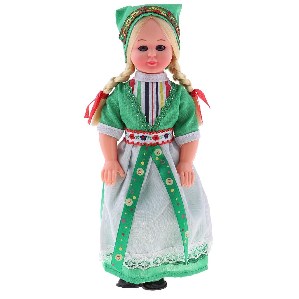 MagiDeal 9 inch Vintage Nationality Dolls Ethnic Clothing Doll Travel Souvenir German Doll Принцесса Жасмин