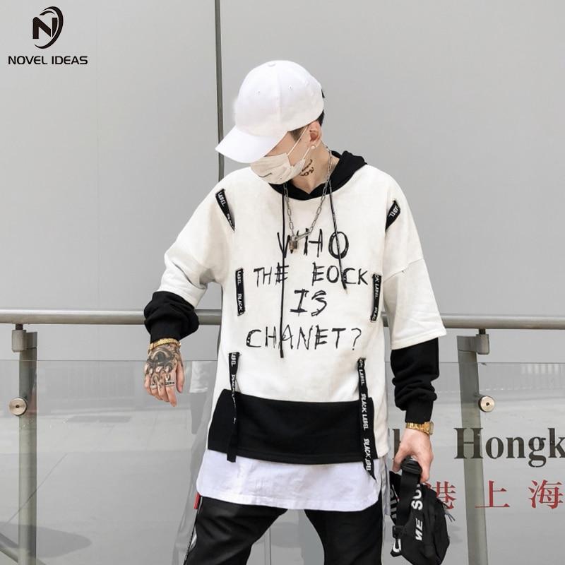 Novel ideas Men's Hoodies Sweatshirts Skateboard Men Woman Pullover Hoodie Clothing Pocket Print Hip Hop Tops Clothes US Size 51