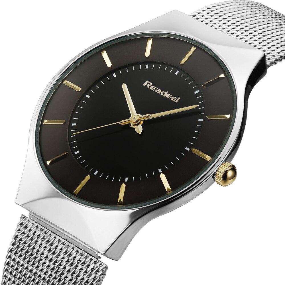 2016 Top Brand Men Sports Quartz Watch Slim Casual Wristwatch Business Stainless Steel Analog Quartz Watch