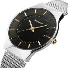 2016 Top Brand Hombres Deportes Reloj de Cuarzo Delgado Casual de Negocios Reloj de pulsera de Acero Inoxidable de Cuarzo Analógico Reloj de Los Hombres Relojes Hombre