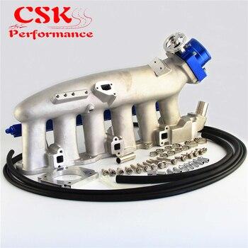 צריכת סעפת + דלק רכבת & 80mm VQ35TPS מצערת גוף לניסן סקייליין R32 R33 RB25 RB25DET GTS-T