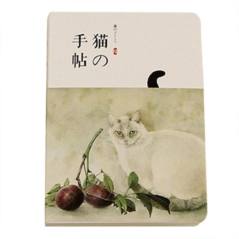 все цены на New Blank Vintage Sketchbook Diary Drawing Painting 80 sheet Cute Cat Notebook paper Sketch Book Office School Supplies Gift(fr онлайн