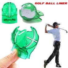 Golf Scribe akcesoria materiały przezroczysta piłka golfowa zielony uchwyt na kabel Liner marker szablon wyrównanie znaki narzędzie wkładanie tanie tanio Other Golf accessories plastic Convenient and practical