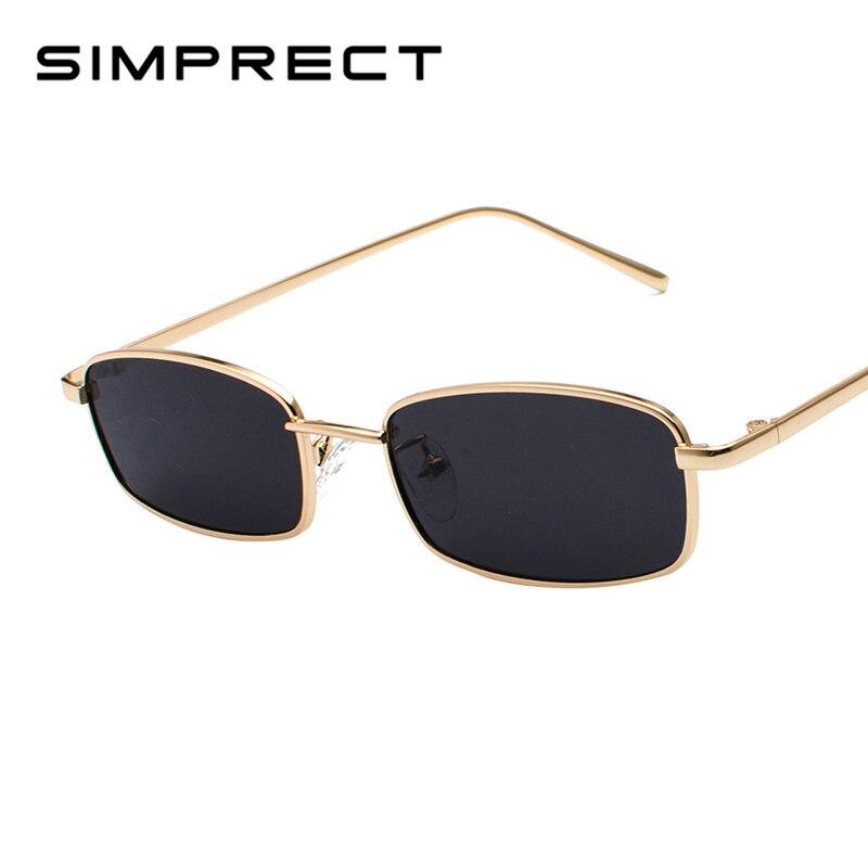 SIMPRECT 2019 Small Square Sunglasses Women Fashion Vintage Sun Glasses Shades For Men Brand Designer Retro Sunglass YJ0842