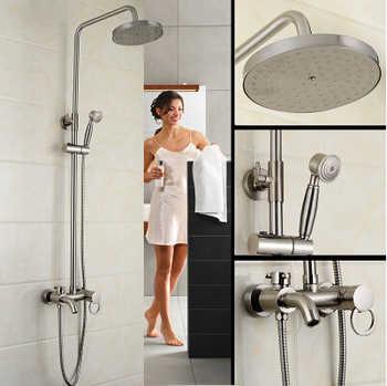 Pommeau de douche antique Dofaso 8 ''grand pommeau de douche avec ensemble de douche à main robinet robinets de douche en laiton Antique