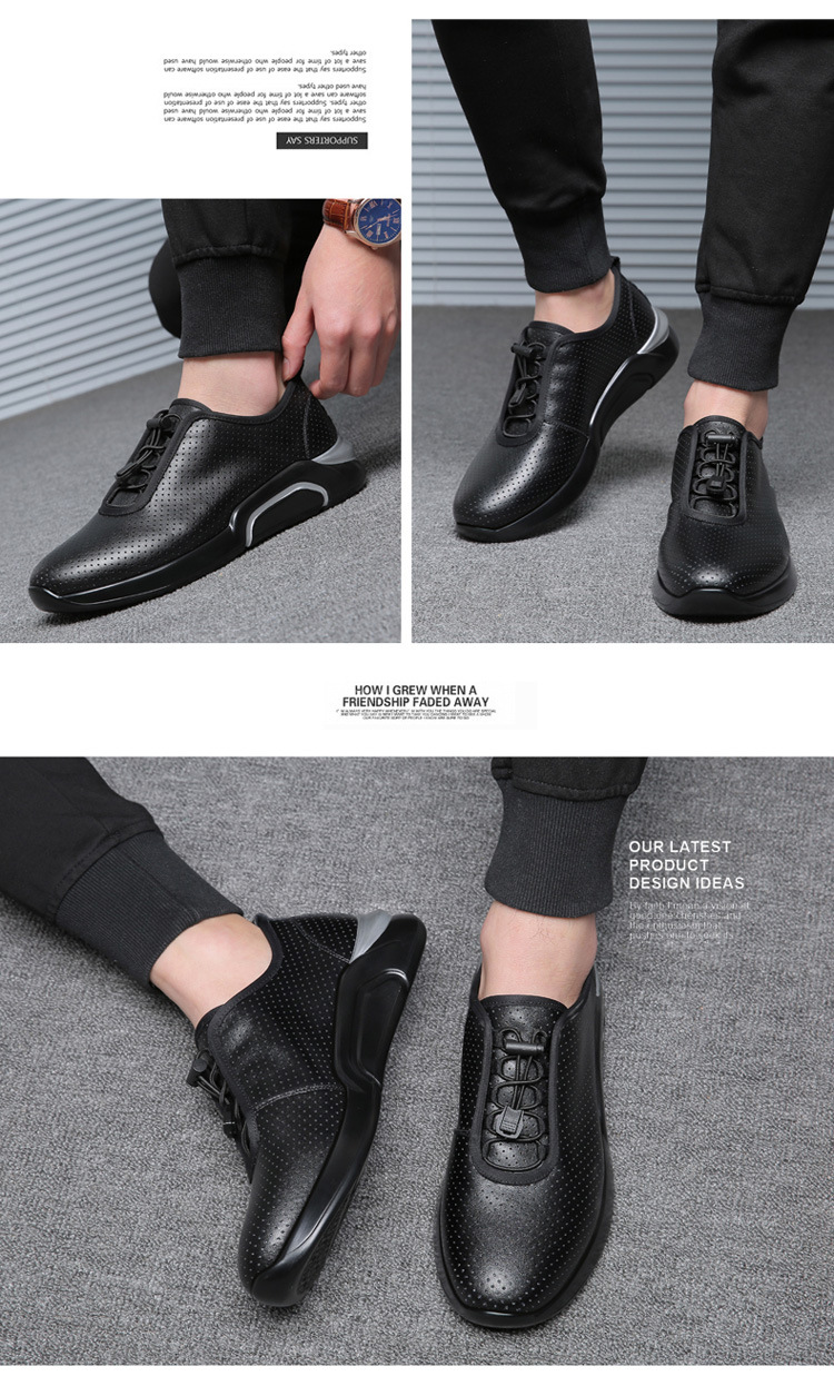 Spring Autumn Men Casual shoes Genuine leather Breathable Male Sneakers Lace-Up Flats Sport shoes zapatos de hombre 02A 21