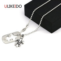 925 Sterling Silver Jewelry Anchor Pendant Necklaces Card Fashion Charms Punk Link Chain For Men And