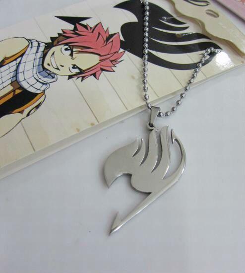 Fairy Tail Toys Necklace Pendants Natsu Cosplay Guild Logo