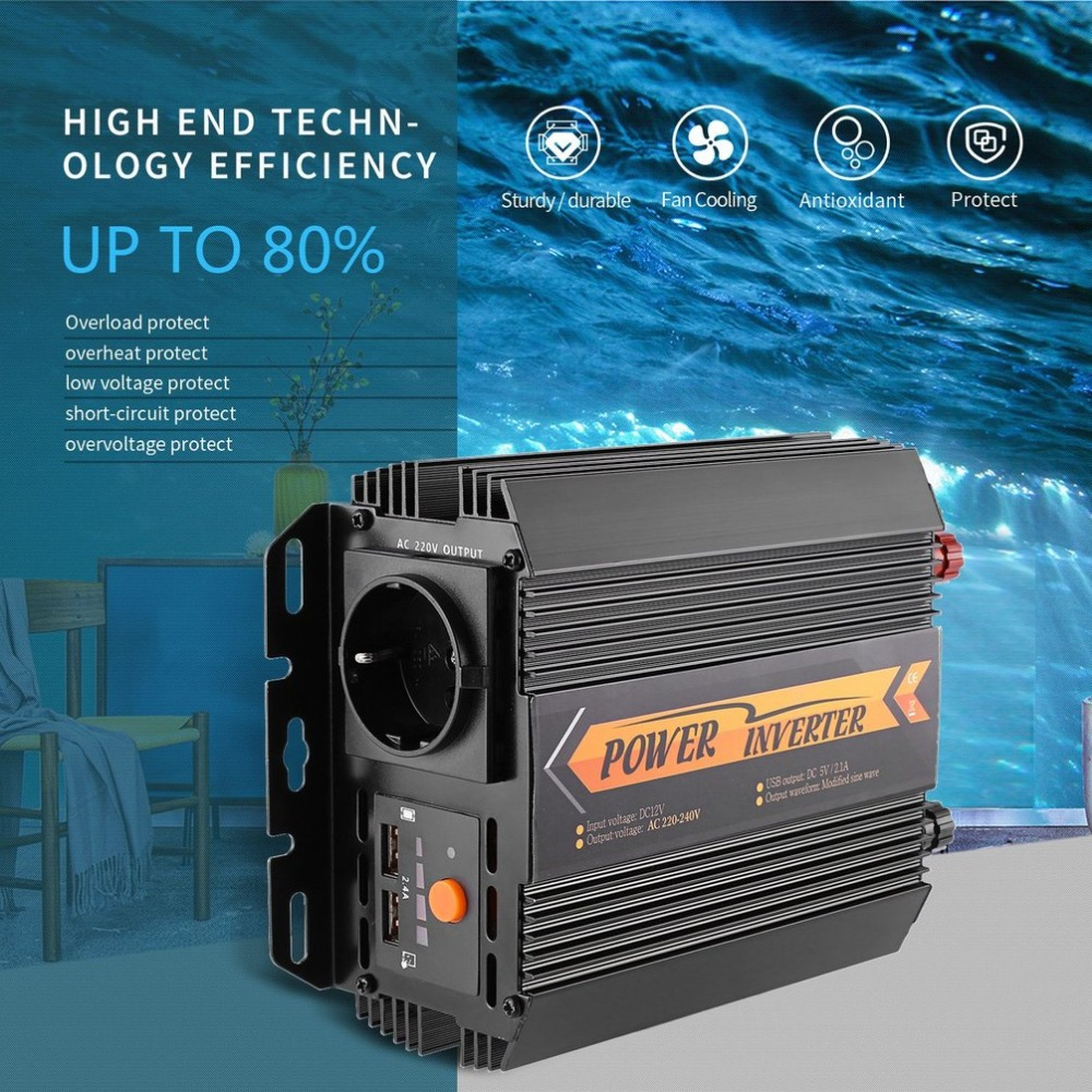Professional T8094/1000W/1500W Automotive Power Inverter Charger Converter Car Vehicle Home Use Power Supply Inverter