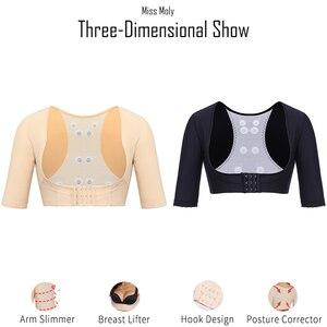 Image 5 - Bayan Moly Dikişsiz Kol Şekillendirici Göğüs Kaldırıcı Düzeltici Iç Çamaşırı Görünmez Zayıflama vücut sıkılaştırıcı Ince Modelleme Üstleri Korse