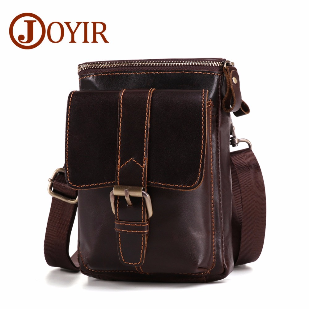 JOYIR High Quality Genuine Cowhide Leather Men Messenger Bag Fashion Travel Crossbody Shoulder Bags Phone Small Flap Bag For Men yiang 2018 genuine leather bags men high quality messenger bags small travel crossbody shoulder bag small phone pouch for men