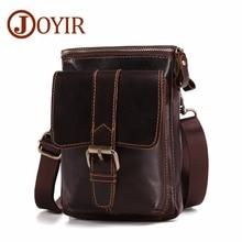 JOYIR High Quality Genuine Cowhide Leather Men Messenger Bag Fashion Travel Crossbody Shoulder Bags Phone Small Flap Bag For Men