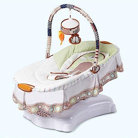 musical baby cradle electric shaking crib baby sleeper bb bed rocking chair baby hammock swings with walker wheels in cradle from mother  u0026 kids on     musical baby cradle electric shaking crib baby sleeper bb bed      rh   aliexpress