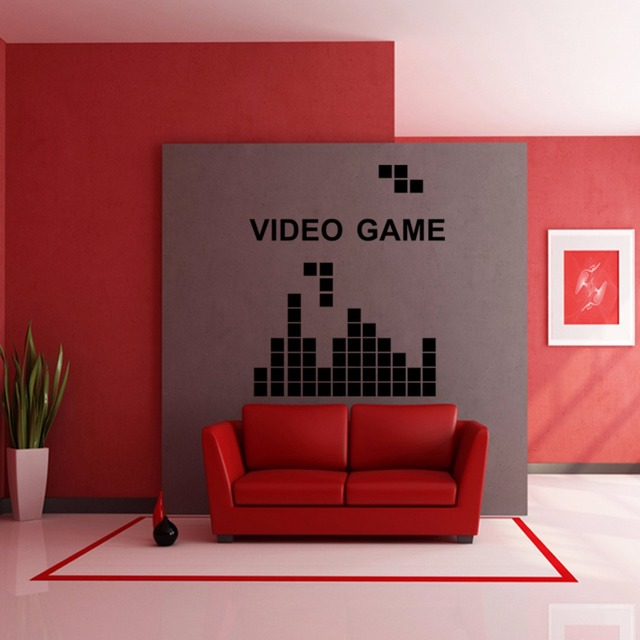 Tetris Jeu Vid O Jeu Vinyl Sticker Home Decor Enfants