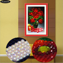 diyเพชรเย็บปักถักร้อยกุหลาบดอกไม้ปักครอสติส่วนวางเพชรจิตรกรรมโมเสกภาพชุดpshiny พิเศษเพชร5d f443