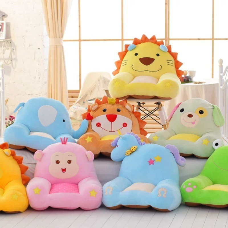 New Coming 58Cm Width Cartoon Plush Seat Sofa lion Moneky Horse Frog Dog Elephant Creative Detachable Baby Kids Backrest Seat 1pc 2016 new nici the frog prince cute frog plush toy 35cm