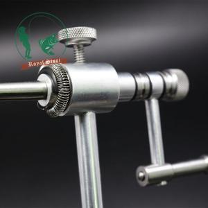 Image 4 - Étau de fixation de mouche rotatif de qualité argent Royal Sissi avec mâchoires dures renforcées en C, outils de fixation de mouche de précision à rotation de 360 degrés
