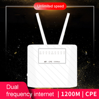 1200Mbps 4G LTE CPE Router CAT6 4G LTE Wireless CPE Router Dual Band 2.4&5.8G Wireless AP FDD/TDD LTE Sim Card