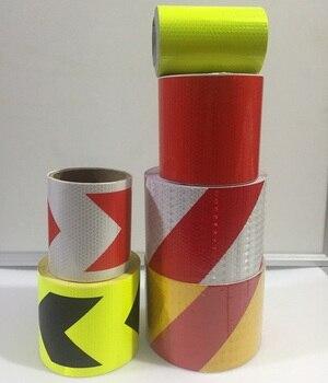 10 cm * 1 M Fita Adesiva de Segurança Reflexiva Auto-adesiva de PVC de Alta Tráfego Local de Construção de Tráfego Sinal Reflexivo Adesivo 1