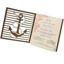 Cartão de convite de corte a laser padrão de Música para decoração de casamento suprimentos