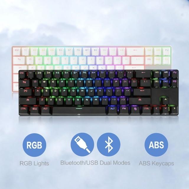 2923fc68516 DREVO Calibur 71 Keys Gaming Mechanical Keyboard Wireless Bluetooth 4.0  Edition with RGB Backlight for Tablet Desktop