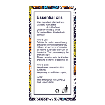 KBAYBO Essential Oils for Aromatherapy Diffusers Humidifier Home Plant Flavor Lavender Tea Tree Lemongrass Rosemary