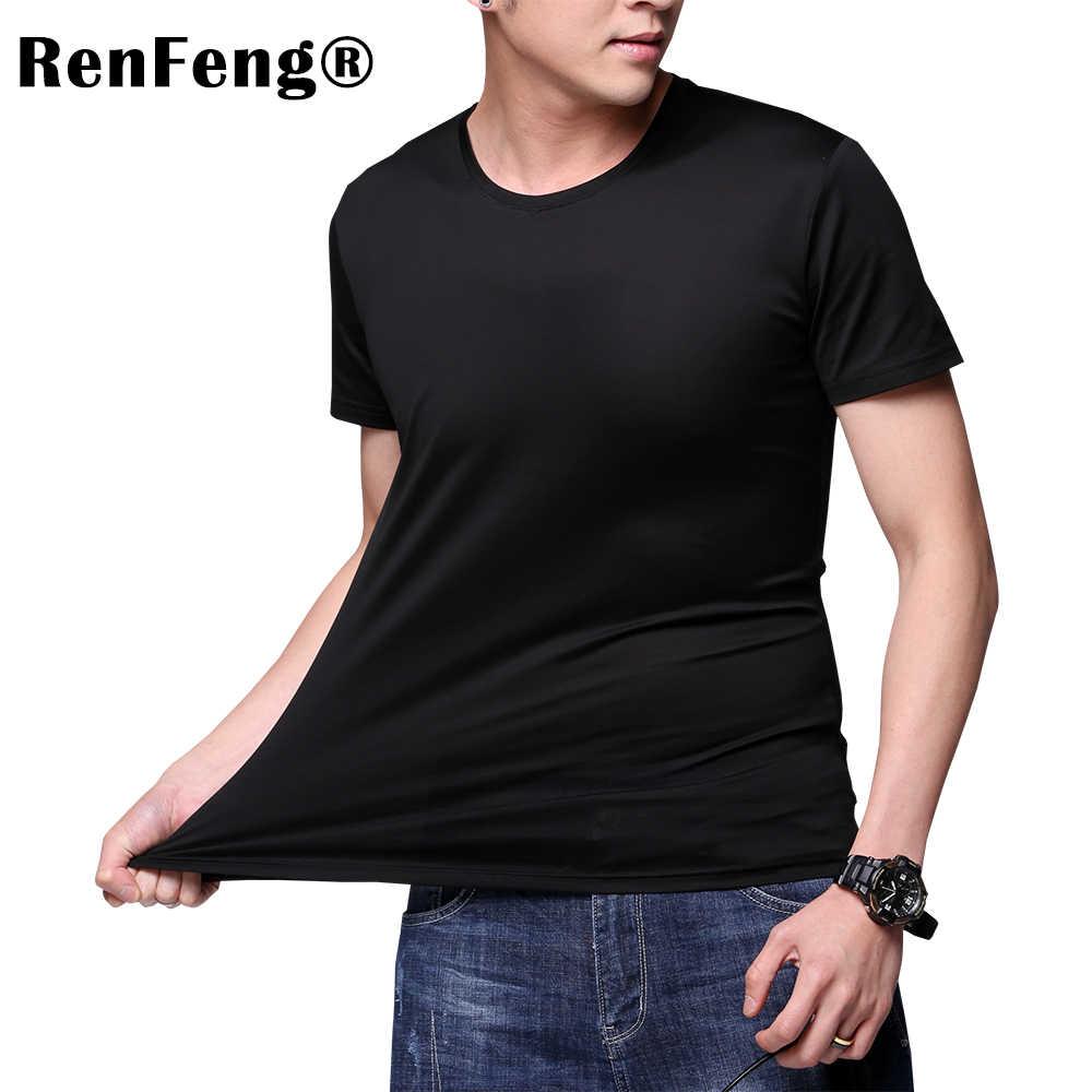 08d3524e2215 Man Underwear Blank White Black Simple T shirt Mesh Ice Silk Sheer  Undershirts Male Sexy Plain
