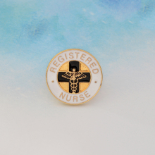 Registered Nurse Red Cross Brooch Metal Enamel Pin