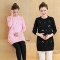 Hecho Punto elástico Del Suéter de la Ropa de Maternidad para Las Mujeres Embarazadas Suéteres de La Manga Completa Primavera Otoño Mujeres Embarazadas Suéteres B450