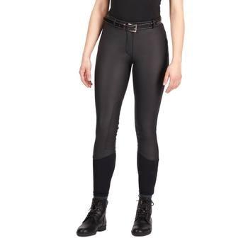 Calzones Ecuestres Para Mujer, Pantalones De Montar A Caballo SkinnyTight Transpirables Suaves Para Mujer, Chales Escolares Para Montar A Caballo, Color Negro Y Marrón