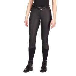 Calzones ecuestres para mujer pantalones de montar a caballo suaves transpirables ajustados negros marrones