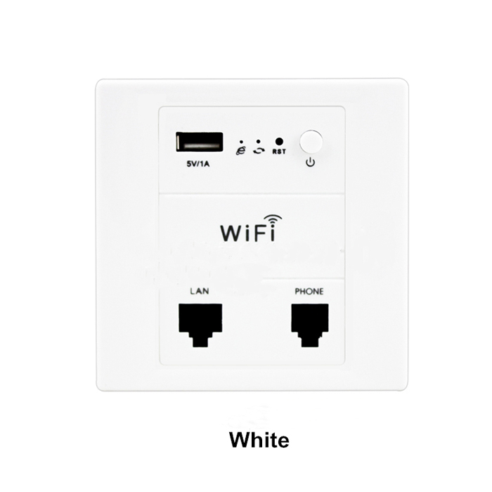 New In wall Wireless AP USB in Wall WiFi Router Indoor Wi-Fi Access Point POE Supported comfast wireless indoor ap 1200mbps gigabit ceiling ap 802 11ac wifi signal booster wifi expander wi fi routers rj45 poe adapter