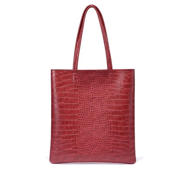KEYTREND Women's Shoulder Handbag Alligator Pattern Fashion Casual Totes Bags Novelty Ladies Median Top-Handle Bags KSB242