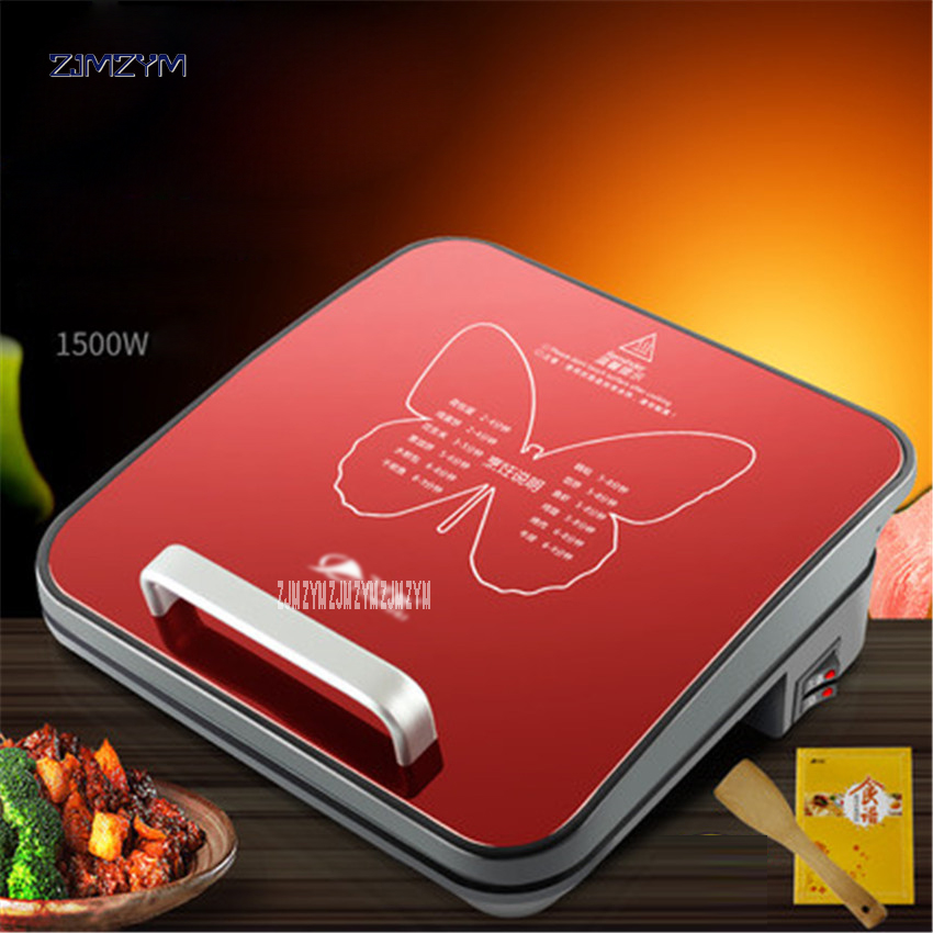 Automatic Electric Skillets Double Sided Frying Pan Non-stick Grill Pan Flapjack Cake Stalls Machine QZ-319 Household 270mm jiqi electric baking pan double side heating household cake machine flapjack pizza barbecue frying grilling plate large1200w