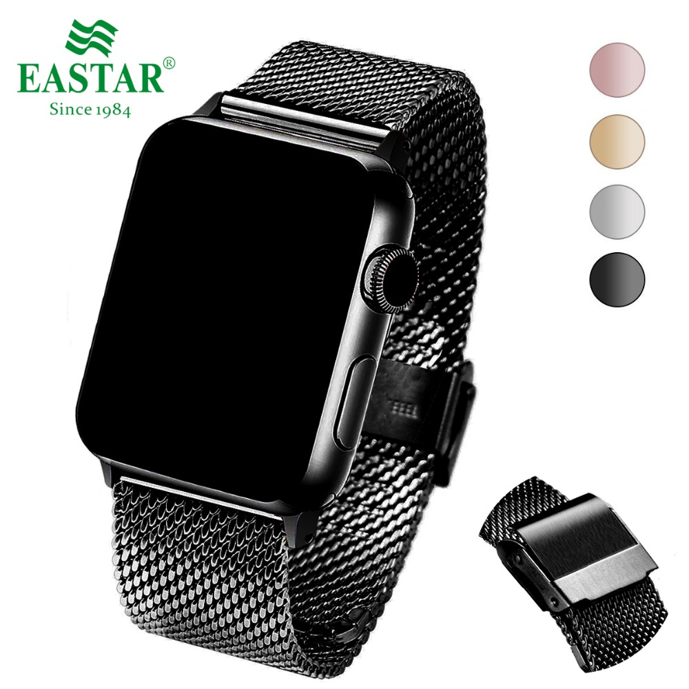 Eastar Double Buckle Milanese Loop Stainless Steel Watchband for Apple Watch Series 5/4/3/2/1 42 mm 38 mm Strap For iwatch Band|Watchbands| |  - title=