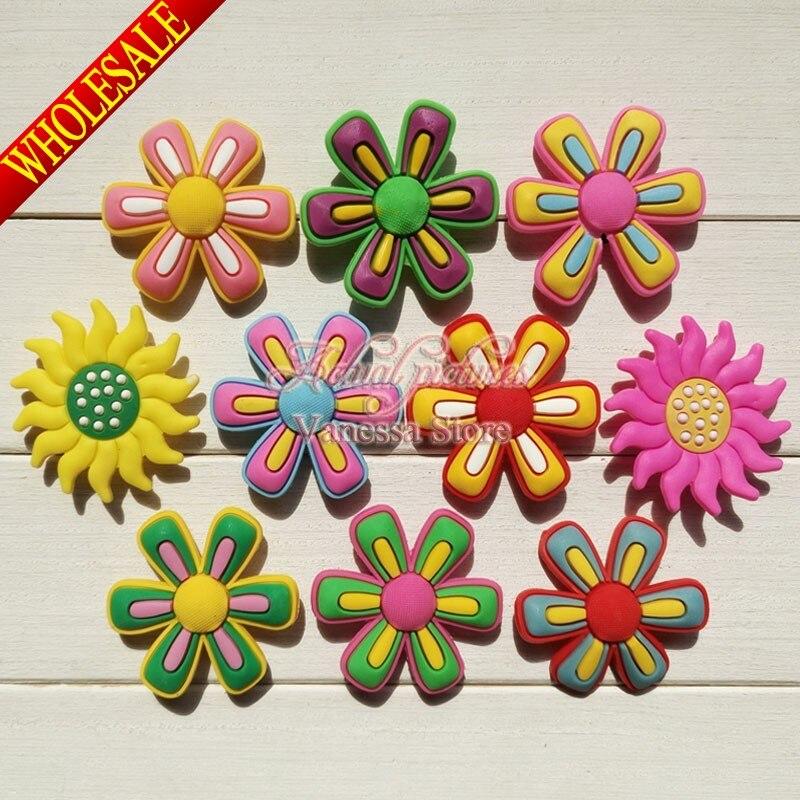 5ab115bc80553 Cute charms 10pcs/lot Large flower shoe decoration/shoe charms/shoe ...