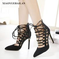 Stylish High Heels Night Store Sexy Thin And Shallow Female Single Shoes Suede