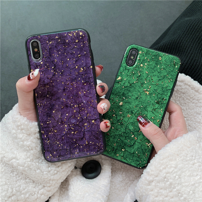 Fashion Gold Foil Bling Marble Phone Case for xiaomi redmi note 6 pro 5 plus 6a s2 mi 8 lite mi8 6 6x mix 2 2s max 3 cover shell image