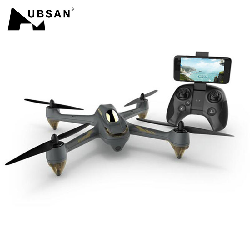 Hubsan RC Drone Brushless-Motor Quadcopter Camera Altitude-Hold Headless Wifi FPV X4