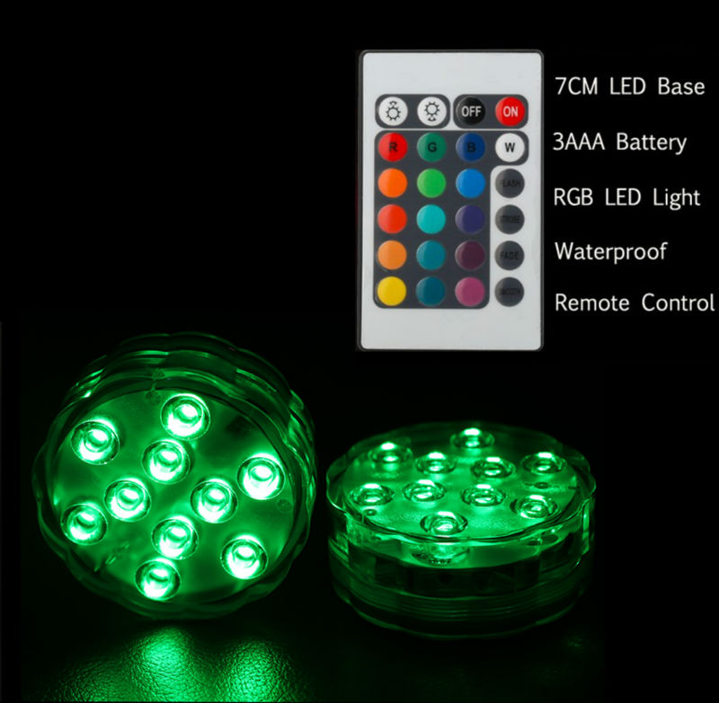 (1pc/lot) 3AAA Battery Operated Remote Controlled Multi-colors RG LED Light